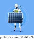 Modern Robot Charging Battery From Solar Panel 31966776