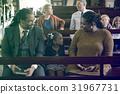 Family Sitting Church Believe Religion 31967731