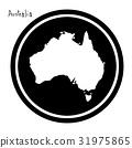 vector illustration white map of Australia 31975865