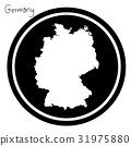 vector illustration white map of Germany 31975880