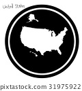 vector illustration white map of The United states 31975922