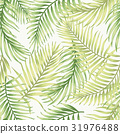 Seamless exotic pattern with tropical leaves. 31976488