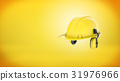 3d rendering of a new yellow construction hard hat 31976966