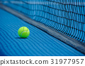 tennis ball and tennis court background 31977957