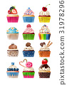 Vector set of icons sweets 31978296