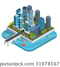 isometric 3D illustrations of modern urban 31978507
