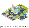 isometric illustration of a modern Italian fast 31978965