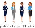職業婦女例證服務和顧客服務 31979114