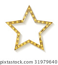 Vector Golden star on white background 31979640
