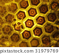 golden honeycomb texture, gold hexagon clusters 31979769