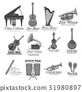 Vector musical instruments icons of music festival 31980897