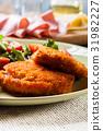 cutlet, salad, food 31982227