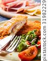 cutlet, meat, salad 31982229