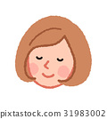 一个闭着眼睛的女人的脸 31983002