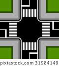 urban crossroad with crosswalks 31984149