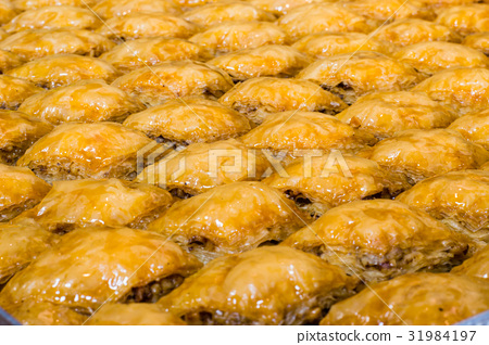"Closeup of Turkish dessert ""Baklava"" with walnut 31984197"