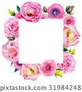 水彩畫 水彩 玫瑰 31984248