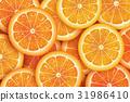 Orange slice background for summer. 31986410