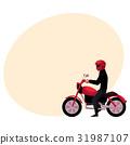 motorcycle, rider, bike 31987107