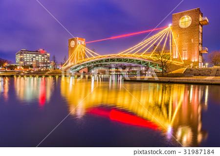 Toyama, Japan Park and Bridge 31987184