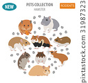 hamster icon pet 31987323