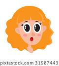 surprised, woman, hair 31987443