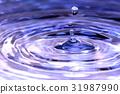 水 水面 水滴 31987990