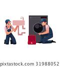Plumbing specialist, plumber, repairman fixing 31988052