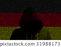 Hacker shininhg north german computer code flag 31988173