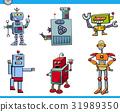 robot cartoon characters set 31989350