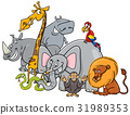 cartoon safari animals group 31989353
