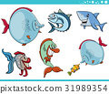 sea life fish characters collection 31989354