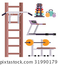 Fitness gym club vector icons athlet and sport 31990179