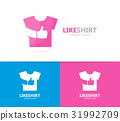 cloth and like logo combination. Shirt and best 31992709