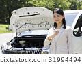 자동차 고장로드 서비스 문제 자동차 비즈니스 운전 여성 사업가 31994494