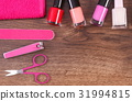 Cosmetics and accessories for manicure or pedicure 31994815