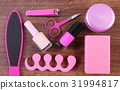 Cosmetics and accessories for manicure or pedicure 31994817