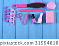Cosmetics and accessories for manicure or pedicure 31994818