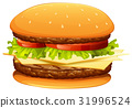 hamburger, cheese, meat 31996524