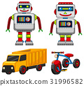 Robot and vehicle toys 31996582