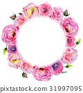 水彩畫 水彩 玫瑰 31997095