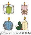 candle, set, hand 31999956