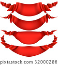 ribbon red vector 32000286