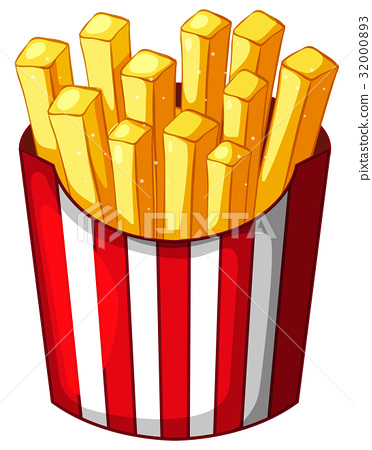 Frenchfries in paper container 32000893