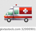 Ambulance van on transparent background 32000901