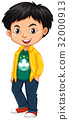 Boy wearing shirt with Macau flag 32000913