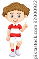 boy, pointing, happy 32000922