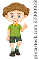 Little boy in green shirt 32000928