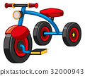 Tricycle with blue and red color 32000943