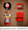 Vintage items in red color 32000954